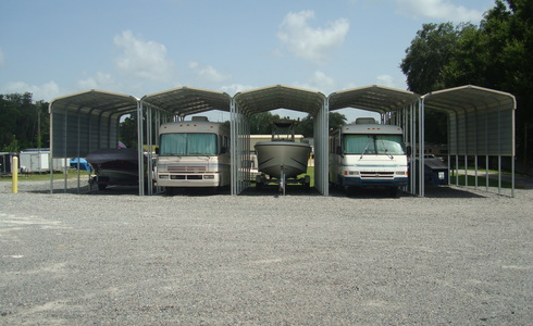 Wide boat and RV storage spaces