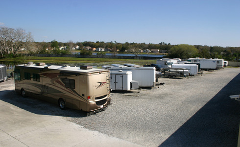 Trailer and RV storage section
