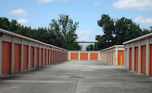 Row of storage units at Personal Mini Storage on Spring Garden Ave