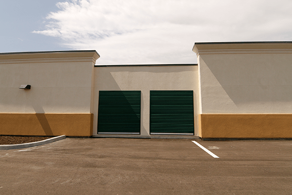 Wide angle of outside storage units