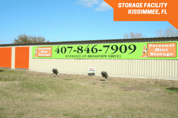 Personal Mini Storage Broadview entrance sign