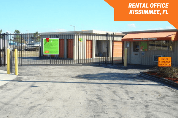 Personal Mini Storage Kissimmee facility entrance gate