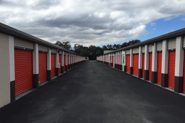 Front storage units with drive up access
