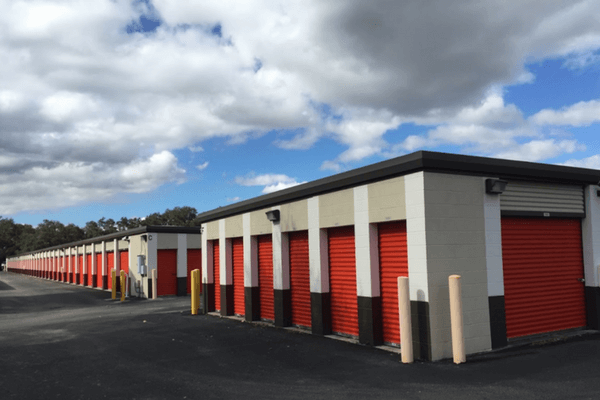 Multiple storage units on property with drive up access
