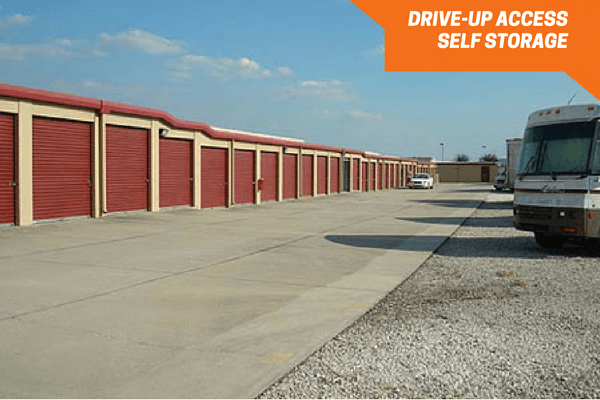 Drive up space and outdoor vehicle storage