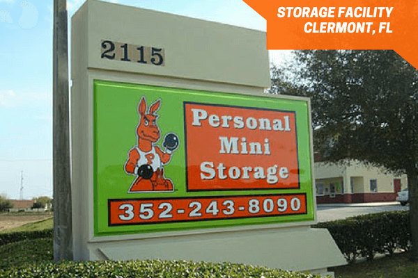 Personal Mini Storage Clermont 27 front signage