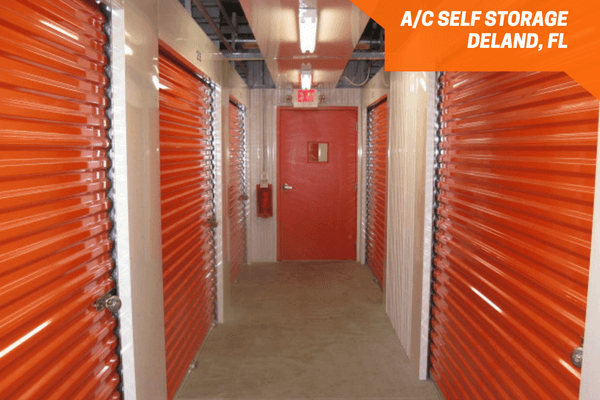 Air conditioned self-storage inside a hallway