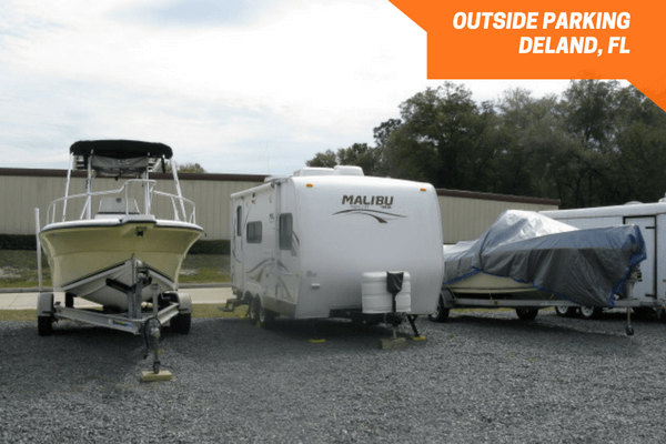 Boat and RV storage space on gravel