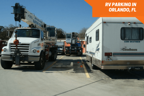 Outside parking spaces for boat and RV storage