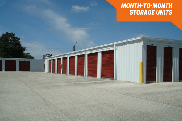 Small and large drive-up storage units
