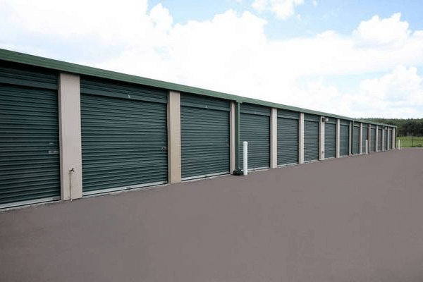 Outside drive-up storage units