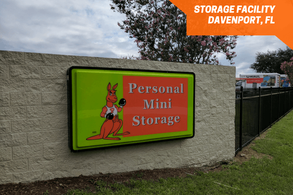 Front signage of Personal Mini Storage Jacks Rd