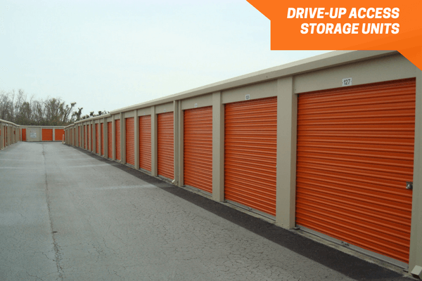 Drive-up self storage units