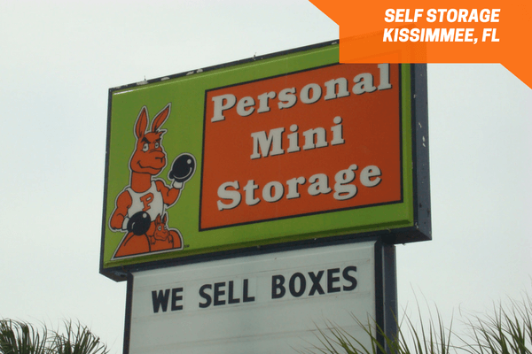 Personal Mini Storage Kissimmee road sign