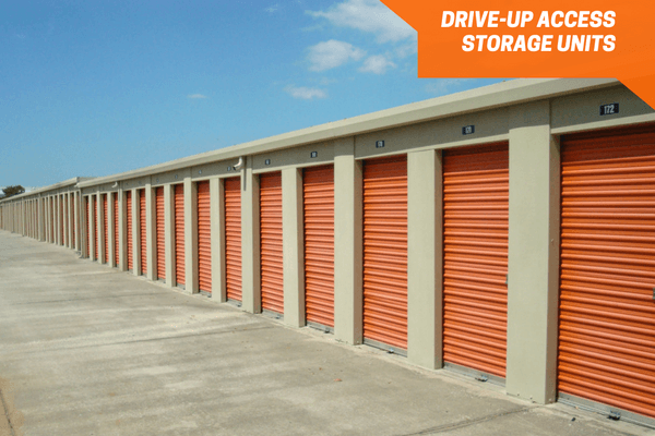 Personal Mini Storage drive-up units on North orange blossom trail