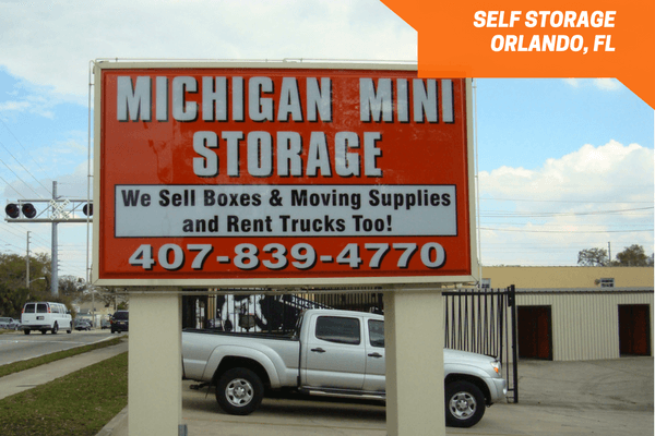 Michigan Mini Storage located south of downtown Orlando FL