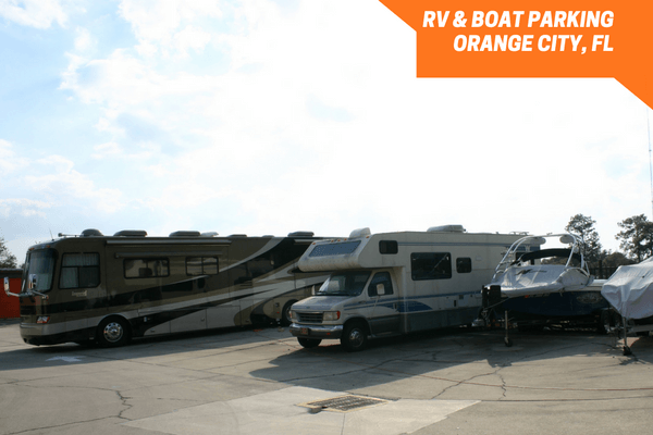 Vehicle storage area for boats and RVs