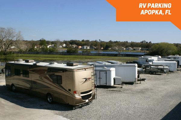 Outside boat and RV storage