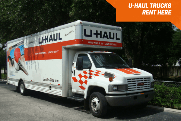 U-Haul truck rentals on-site