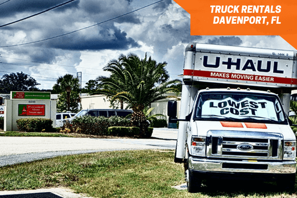 U-Haul rental trucks on-site