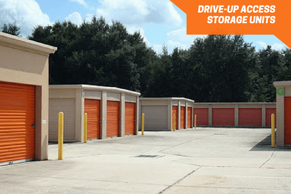 Row of drive up storage units & Deland FL Self Storage - Spring Garden Ave 32720 | Personal Mini Storage