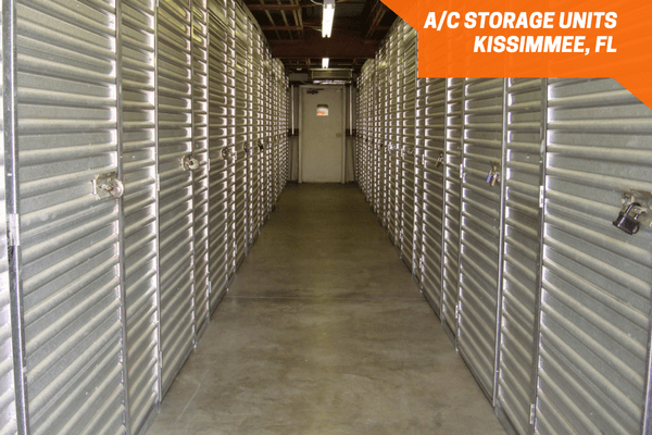 Air conditioned self storage inside a hallway
